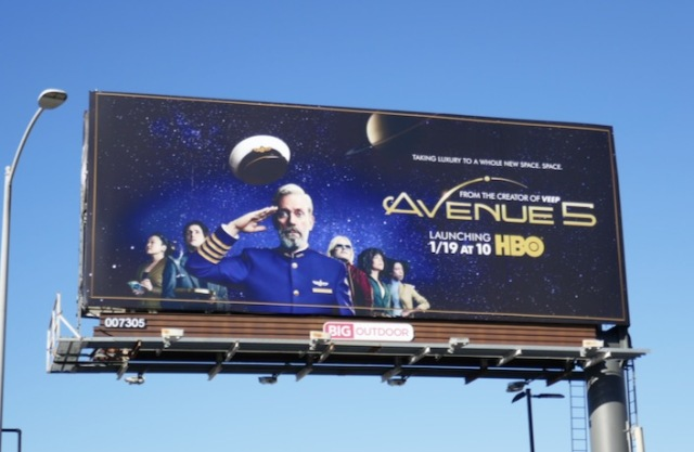 Avenue 5 series premiere billboard